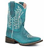 Roper Kids Chiefs Square Toe Turquoise Boots