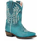 Roper Kids Chiefs Snip Toe Turquoise Boots