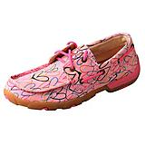 Twisted X Kids Pink Canvas Driving Moccasins