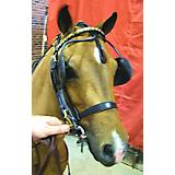 Millers Harness Browband Mini Link Black/Brass