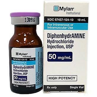 Diphenhyrdramine 50mg Injection 10ml Vial