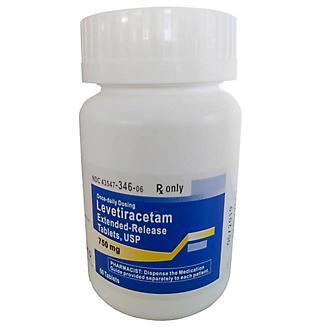 Levetiracetam ER 750mg Tablets 60 Count