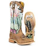 Tin Haul Ladies Cactilicious Square Toe Boots