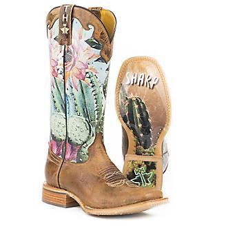 Tin Haul Ladies Cactilicious Square Toe Boots