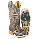 Tin Haul Mens Gator Square Toe Boots