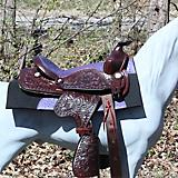 Big Horn Sq Skirt Dlux Ostrich Mini Saddle