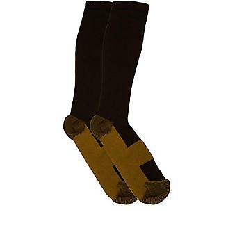 2KGrey Copper Infused Compression Boot Socks