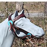 Big Horn Ostrich Print Browband Mini Bridle Chs Bl