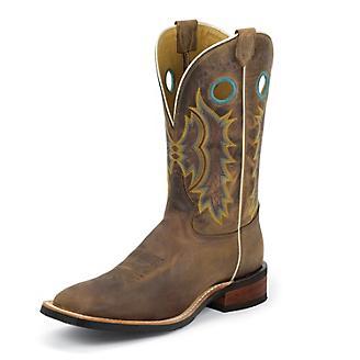 Tony Lama Mens Creedance Sq Toe Tan Boots