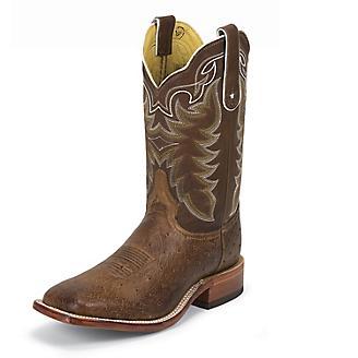 Tony Lama Mens Travis Square Toe Choc Boots