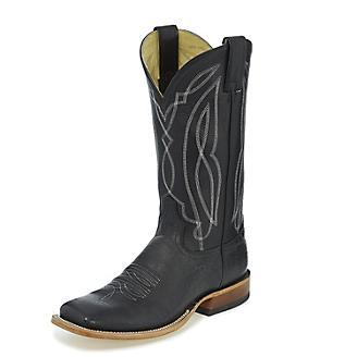 Tony Lama Mens Sealy Square Toe Black Boots