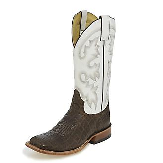 Tony Lama Mens Sealy Square Toe Brown Boots