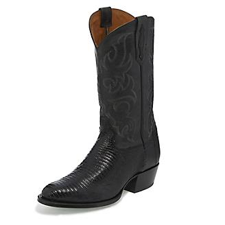 Tony Lama Mens Nacogdoches Rnd Blk Boots