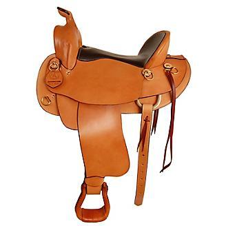 American Saddlery Mule Tamer Saddle 15in Chestnut - Statelinetack com