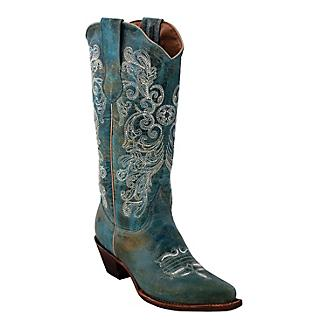 Ferrini Ladies Southern Charm Snip Turq Boots