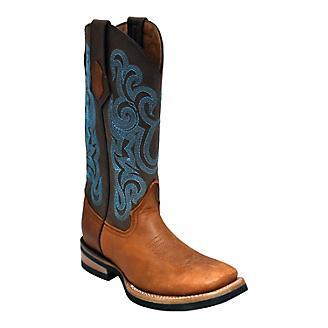 Ferrini Ladies Maverick Sq Toe Brown Boots