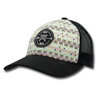 pretty nice 84bd1 a037a Hooey Ladies Quake Aztec Black Mesh Trucker Hat - Statelinetack.com