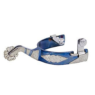 Conquistador Blue Steel Poinsettia Spurs