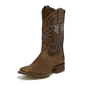 Nocona Ladies Cowpoke Sq Toe Tan Vintage Boots
