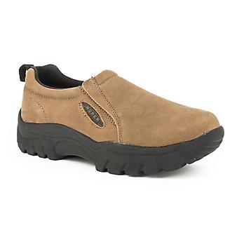 Roper Mens Tan Leathers Slip On Shoes