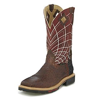 Justin Mens Derrickman Comp Ost Work Boots