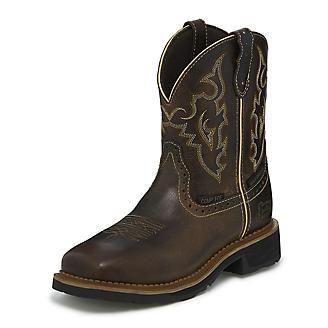 Justin Ladies Jalena WP Comp Toe Tan Boots