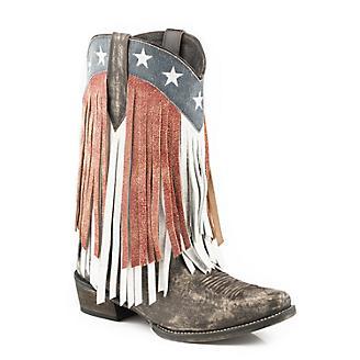 Roper Ladies American Beauty Frnge Snip Boots