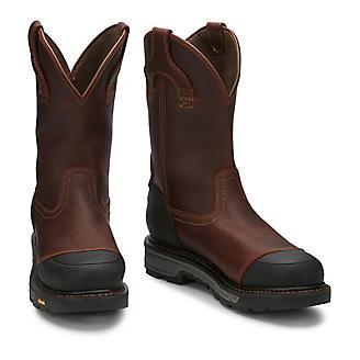 Justin Mens Warhawk Chestnut Comp Toe Boots
