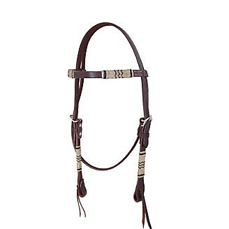 Oxbow Tack Rawhide Braided Choc Browband Headstall