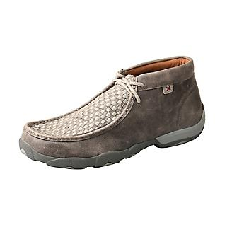 Twisted X Mens Driving Moccasins Gray/Gray