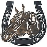 Tough-1 Metal Horse Head Horseshoe