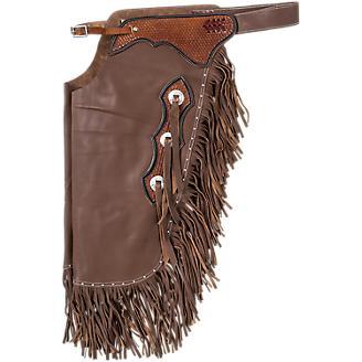 Tough1 Premium Leather Chinks w/Basketweave Tool
