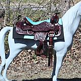 MiniTack Double Skirt Ostich Saddle Package
