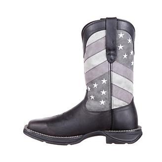Rebel Durango Mens Sq Faded Blk Flag Boots