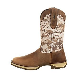 Rebel Durango Mens Desert Camo Sq Toe Boots