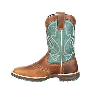 Durango UltraLite Ladies Sq Toe Emerald Boots