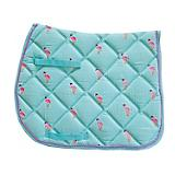Lettia Embroidered Flamingo All Purpose Saddle Pad