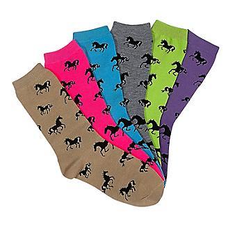 Horses All Over Crew Socks 6-Pack