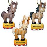 Whimsical Horse Ornament Set of 3