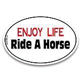 Enjoy Life Ride A Horse Auto Decal
