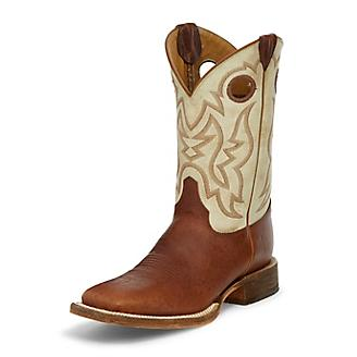 Justin Mens Bent Rail Desert Bone Boot