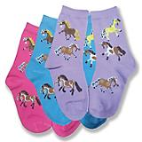 Puff Ponies Youth Crew Socks 3-Pack