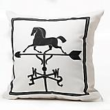 Horse Weathervane Throw Pillow