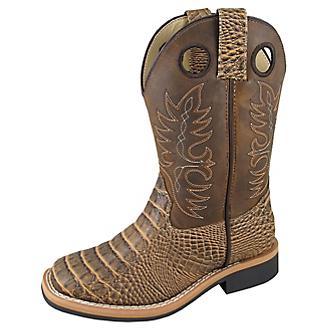 Smoky Mountain Youth Tan Gator Boots