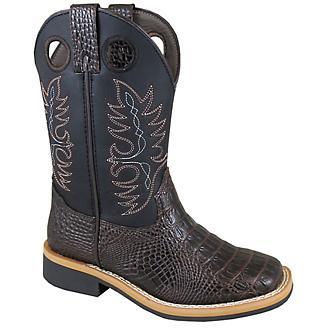 d9190ee7f28 Smoky Mountain Childs Dark Brown Gator Boots 1 - Statelinetack.com