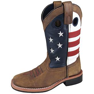 17e4a1a0da9 Smoky Mountain Youth Stars and Stripes Boots 3.5 - Statelinetack.com