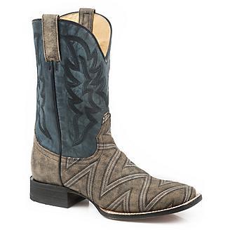 Roper Mens Ronald Square Toe Boots