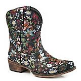 Roper Ladies Ingrid Snip Toe Black Boots