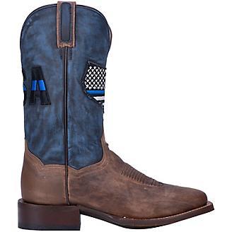 Dan Post Mens 11in Thin Blue Line Sq Boots