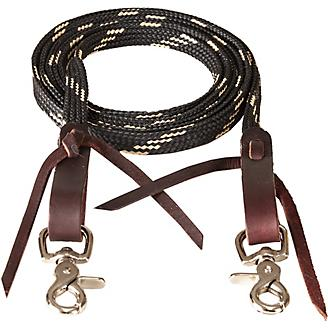 Mustang 5/8in x 8ft Waxed Tape Roping Rein